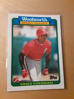 1990 Topps Woolworth #10 Vince Coleman Saint Louis Cardinals Baseball Card, OF.