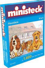 Ministeck Pixel Puzzle (31326): animaux de compagnie ( 4 En 1 ) 1600 pièces