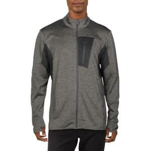 Ideology Mens Gray Fitness Running Performance Track Jacket Athletic L BHFO 9707