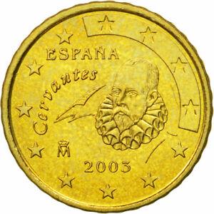 [#581263] Espagne, 10 Euro Cent, 2003, SPL, Laiton, KM:1043
