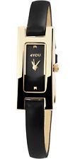 4YOU Damen Uhr Armbanduhr analog Quarz Kunstleder 250011000