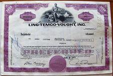 Stock certificate Ltv Ling-Temco-Vought, Inc Less Than 100 shares Delaware