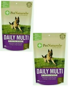 Pet Naturals of Vermont Daily Multi Vitamin for Dogs 30 Chews 3.70oz.(Pack of 2)