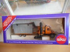 Siku Mercedes Unimog + Grass Cutter in Orange on 1:55 in Box  (Siku nr: 2929)
