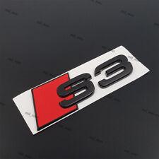 New Audi S3 Rear Black Glossy Badge Logo Wing Boot Sticker Adhesive Emblem