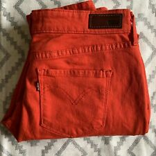 Levi's Women's Bold Curve Red Modern Rise Skinny Denim Jeans Size 30
