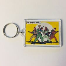 GHOSTBUSTERS COMIC ART The real Ghostbusters Key Ring Chain Keyring Fob