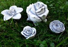 """Gartendeko """"Blumen Set"""" Tischdeko, Gartenfiguren, Steinguss, Rosen, Skulpturen"""