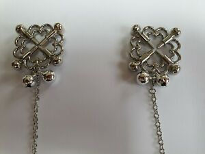 Non pierced Nipple Jewellery Screw on with tension screws, sold as pictured.