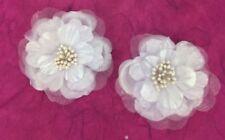 Handmade White Scrapbooking Flower Embellishments