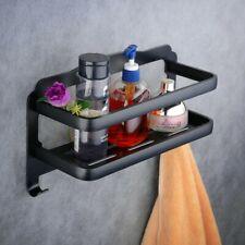 LA JEFA No Drilling Bathroom Shower Shelf, Black Self Adhesive Shower Caddy