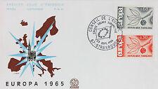 ENVELOPPE PREMIER JOUR - 9 x 16,5 cm - ANNEE 1965 - EUROPA CONSEIL DE L'EUROPE