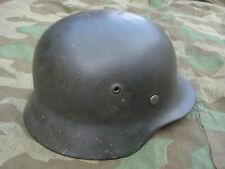 Casco de acero m35 se62 Wehrmacht talla size 55 Helmet casque sajona frita
