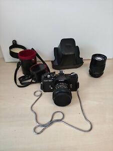 Porst Compact Reflex SP analoge Spiegelreflexkamera + 2 Objektive und Tasche