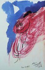 CHAGALL Marc : Les amoureux - LITHOGRAPHIE originale signée, Dédicace à Verdet