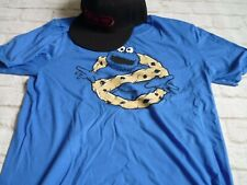 Tshirt m medium cookie monster blue + gaming 3 lives hearts baseball cap hat New