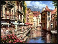 Afternoon in Annecy - Counted Cross Stitch Patterns Needlework for embroidery