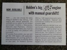 HOLDEN EH ''179 AND POWER STEERING'' SALES  BROCHURE ''RARE'' 100% GUARANTEE.