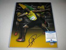 Usain Bolt Jamaica Olympic Gold Signed Autograph 11x14 PHOTO Beckett BAS COA 6