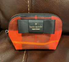 Kate Spade New York Julia Street Small Annabella Cosmetics Case Red Plaid