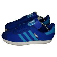 Adidas Mens Gazelle II Sneakers Blue White Size 10 (Q23104) Lace Up Low Shoes