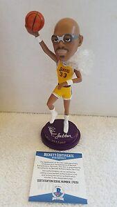 Kareem Abdul Jabbar Signed Los Angeles Lakers SGA Basketball Bobblehead BECKETT