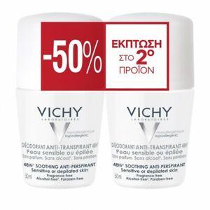 Vichy Anti-Transpirant Sensitive Roll-On 48h 50mlx2
