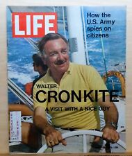 Life Magazine - March 26, 1971 - Walter Cronkite photo cover - US Army spies