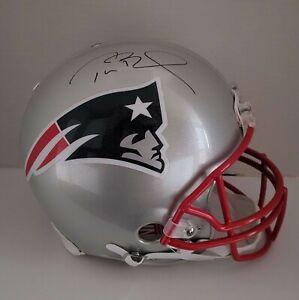 Tom Brady Autographed New England Patriots Full Size Proline Helmet COA