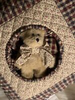 Boyds Bears Home American Dreams Quilted Pillow & Small Jointed bear NEW Rare