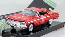 Chevy Chevrolet Impala rot 1964 1:24 Motor Max Modellauto 73259