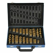 vidaXL Spiraal Boorset HSS Titanium 170-delig Spiraalboor Boor Boren Set Staal