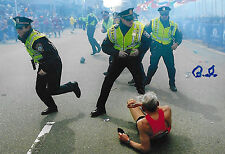Bill Iffrig signed Boston Marathon Bombing SI RARE LEGEND COA LOOK!!