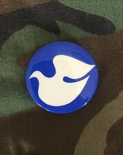 Vintage Pinback PEACE DOVE Button Anti-Vietnam War Protest Pin MADE IN U.S.A.