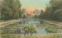 Balboa Park Buildings Lily Pond 1920s San Diego California hand colored 9185