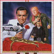 James Bond 007 Framed Box Canvas Print Picture Goldfinger Sean Connery Wall Art