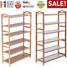 High Quality 6 Tier Wood Bamboo Storage Shoe Rack Home Furniture Plant Rack US