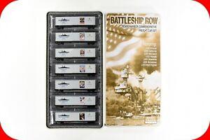 N Scale WWII USN NAVY Pearl Harbor Battleship Rw 7 Car Set MICRO-TRAINS 99321050