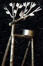 Yankee Candle Silver Reindeer Tealight Holder Rare