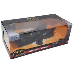 Jada Toys 1989 Batmobile & Batman Diecast Car & Figure Model (Scale 1:24)