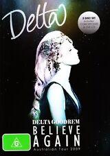 DELTA GOODREM Believe Again Live Australia Tour 2009 DVD/CD NEW PAL R0