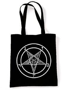 Pentagram Tote Pagan Crowley Satanic Goth Magick Gothic