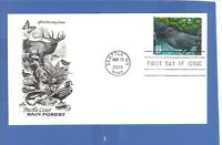 FIRST DAY ISSUE PACIFIC COAST RAIN FOREST AMERICAN DIPPER 33 CENT STAMP 2000 FDC
