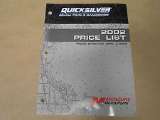 2002 Quicksilver Marine Ricambi e Accessori Prezzo Lista Manuale Oem Barca 02