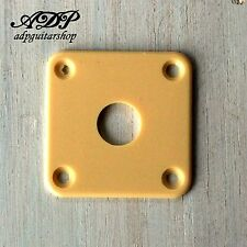 Plaque Input Jack Plate for Gibson Epiphone Les Paul LP type guitars Cream Creme