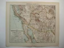 UNITED STATES CALIFORNIA ARIZONA STIELER MAP 1905