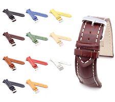 "BOB Alligator Style Watch Band, Model ""Chrono"", 18-24 mm, 11 colors, new!"
