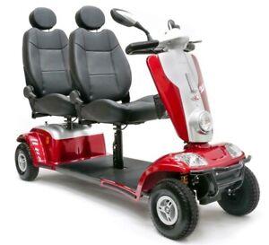 Zweisitzer-Elektromobil Tandem Kymco 6 km/h oder 12 km/h Scooter E-Mobil