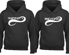 To INFINITY And BEYOND Couple Matching HOODIE WHITE Valentines Couple Love Sweat