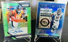 2018 Prizm COURTLAND SUTTON Auto Green Pulsar/ 2019 Contenders Optic Winfree /75